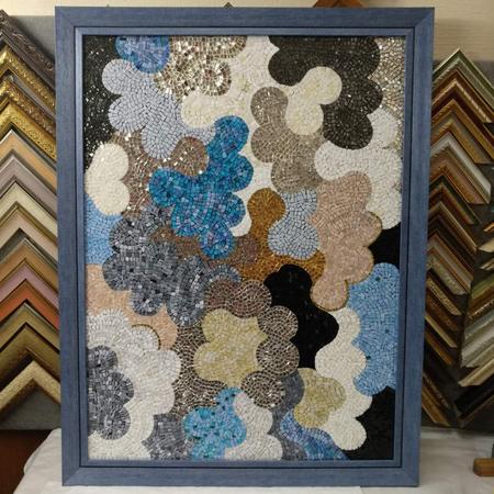 рамка для картини з каменів 25 синій 0af3b0ed14499